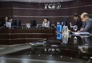 Sessão do Tribunal de Contas do Estado (TCE) em 30/05/2017 Foto: Ana Branco / Agência O Globo