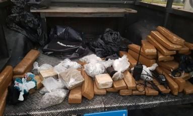 Drogas apreendidas em operação da PM e da Polícia Civil Foto: Divulgação