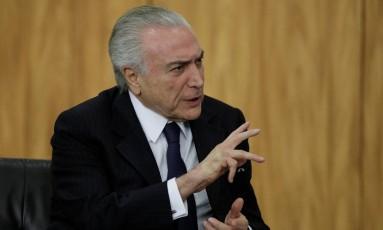 Presidente Temer em evento no Palácio do Planalto em 26 de junho. Foto: Ueslei Marcelino/Reuters