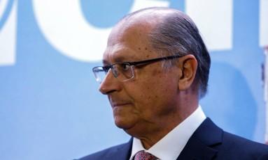 O governador de São Paulo Geraldo Alckmin em inauguração do escritório do BID em São Paulo. Foto: Edilson Dantas / Agência O Globo