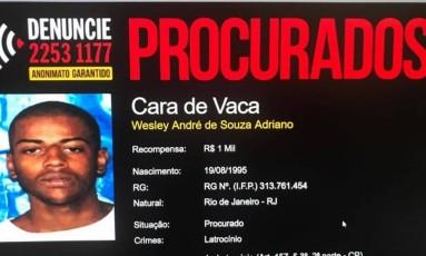 Wesley André de Souza Adriano era procurado pela morte da dentista Priscila Soares Nicolau dos Reis Foto: Divulgação