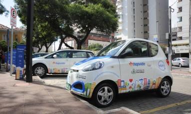 Em Fortaleza, carros elétricos ficam espalhados por 12 pontos pela cidade Foto: DIVULGAÇÃO
