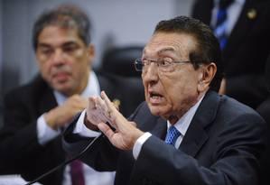 O senador Edison Lobão Foto: Marcos Oliveira / Agência O Globo