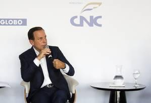"""O prefeito de São Paulo, João Dória, participa do encontro """"E Agora, Brasil? Foto: Monica Imbuzeiro / Agencia O Globo"""