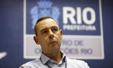 Marcos Landeira, chefe-executivo do Centro de Operaçãoes Rio (COR) Foto: Pablo Jacob / Agência O Globo