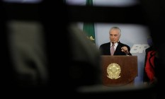 O presidente Michel Temer Foto: Ueslei Marcelino / Reuters