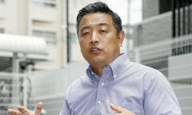 Hideto Kijima dá entrevista nesta quarta-feira em Osaka Foto: Yuki Sato / Yuki Sato/AP