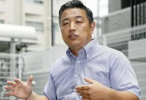Hideto Kijima, durante entrevista sobre o problema nesta quarta-feira em Osaka Foto: Yuki Sato / Yuki Sato/AP
