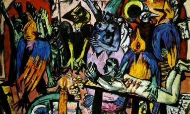 """A tela """"Bird's hell"""", de Max Beckmann, vendida por US$ 45,8 milhões Foto: Reprodução"""