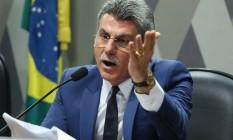 Senador Romero Jucá em debate sobre reforma trabalhista. Foto Aílton de Freitas/Agência O Globo