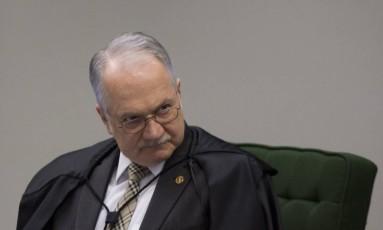 O ministro Edson Fachin Foto: Michel Filho / Agência O Globo / 27-6-17