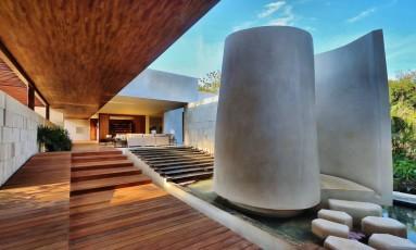 Um detalhe da premiada arquitetura do Chablé Resort & Spa, no México Foto: Divulgação