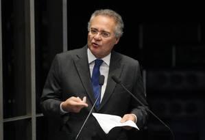 O senador Renan Calheiros Foto: Givaldo Barbosa / Agência O Globo