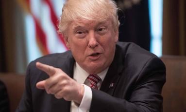 Presidente Trump em encontro na Casa Branca. Foto: Nicholas Kamm/AFP