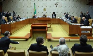 O plenário do Supremo Tribunal Federal Foto: Jorge William / Agência O Globo 28/06//2017