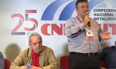 Lula fala em Confederação Nacional dos Metalúrgicos Foto: Reprodução