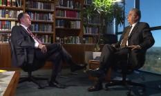 Ministro Luís Barrosofoi entrevistado no programa do jornalista Roberto D'Avila na GloboNews Foto: Divulgação