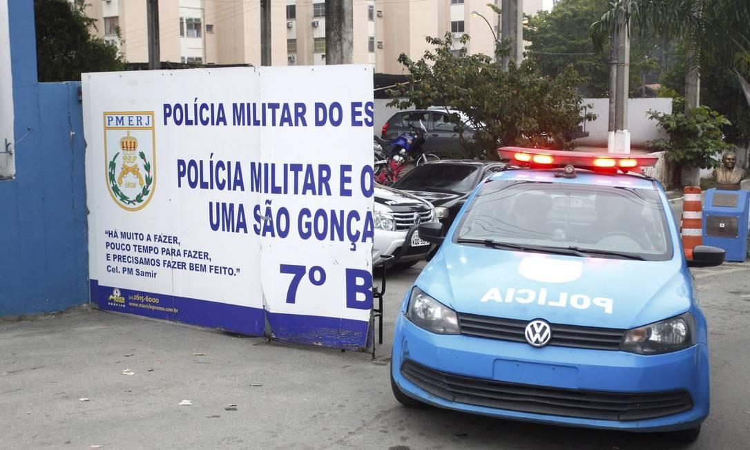 O 7º BPM (São Gonçalo) foi alvo da operação Calabar Foto: Pedro Teixeira / Agência O Globo