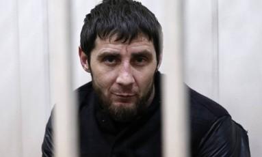 Zaur Dadayev em cela após ser oficialmente preso em Moscou quando foi acusado pelo envolvimento no assassinato de Boris Nemtsov Foto: TATYANA MAKEYEVA / REUTERS