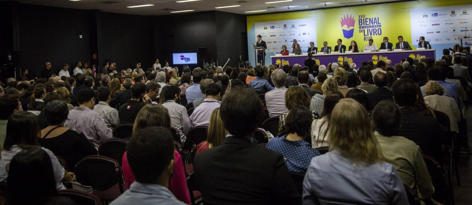 SC Rio de Janeiro (RJ) 03/09/2015 - Cerimonia de abertura da 17 Bienal Internacional do Livro. Homenagem a Mauricio de Sousa. Foto : Fernando Lemos / Agencia O Globo Foto: Fernando Lemos