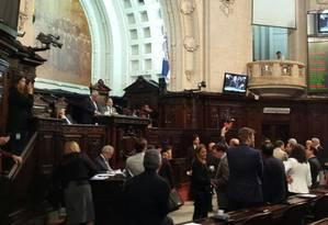 Plenário da Alerj Foto: Antônio Werneck / O Globo