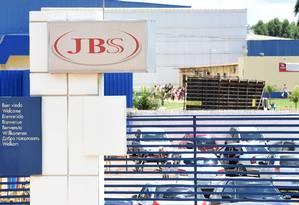 Fábrica da JBS em Samambaia, no Distrito Federal. Foto: Evaristo Sá/AFP