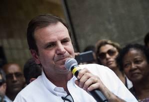 Com ressalvas. Eduardo Paes teve contas de 2016 aprovadas pelo TCM Foto: Bárbara Lopes / Agência O Globo