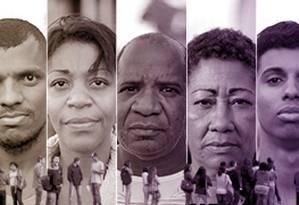 Candidatos na fila do emprego contam suas histórias Foto: Editoria de Arte/Montagem sobre fotos de Daniel Marenco