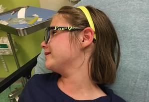Ashley Echols foi parar na emergência porque entrou em contato com criança com varicela Foto: Reprodução do Facebook