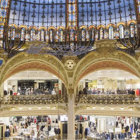 Galeries Lafayette, em Paris Foto: Divulgação