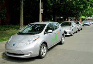 Communauto: empresa tem 1.500 carros híbridos e elétricos compartilhados em Montreal Foto: Jason Vogel