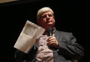 O procurador-geral da República, Rodrigo Janot, participa do 12º Congresso Internacional de Jornalismo Investigativo Foto: Marcos Alves / Agência O Globo