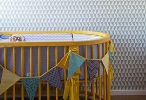 Berço em quarto de criança Foto: Andrea Marques / .