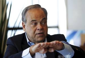 O presidente da Fetranspor, Lélis Marcos Teixeira Foto: Gabriel de Paiva / Agência O Globo