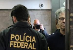 Ponto Final: Jacob Barata Filho chega à sede da Policia Federal Foto: Fabiano Rocha / Agência O Globo