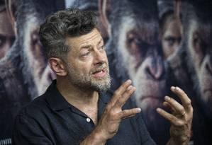 Andy Serkis em evento de lançamento do filme 'Planeta dos macacos: A guerra', em Londres Foto: Joel Ryan / Joel Ryan/Invision/AP