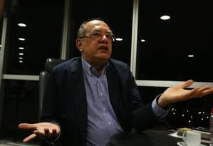 O presidente do TSE, ministro Gilmar Mendes Foto: Givaldo Barbosa / Agência O Globo/3-717