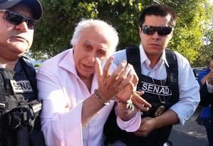 O ex-médico Roger Abdelmassih, quando foi preso no Paraguai, em 2014 Foto: Foto: Arquivo/ Secretaria Nacional De Antidrogas do Paraguai/19-8-2014