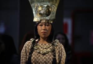 Cientistas recriaram o rosto da Dama de Cao, que governou o Norte do Peru há 1.700 anos Foto: GUADALUPE PARDO / REUTERS