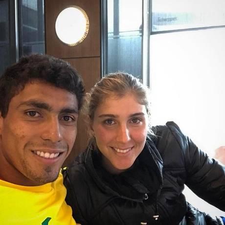 Thiago Monteiro e Bia Haddad: tenistas brasileiros assumiram namoro em 2016 Foto: Reprodução/Instagram