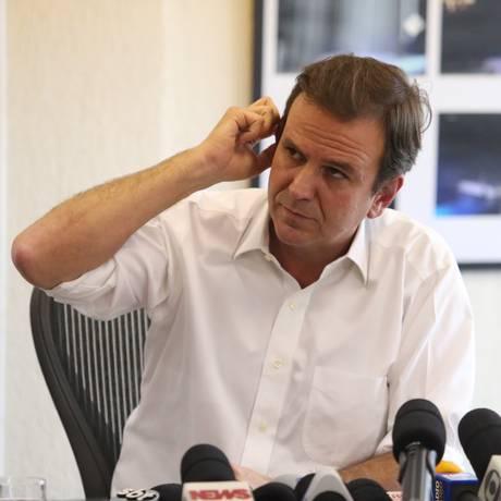 O ex-prefeito do Rio Eduardo Paes Foto: Fabiano Rocha / 17-3-2016