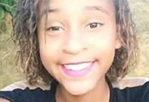 Samara Gonçalves, de 14 anos, foi baleada dentro do Colégio estadual Ricarda Leon, em Belford Roxo. Estado já teve 632 vítimas de balas perdidas Foto: Reprodução do Facebook