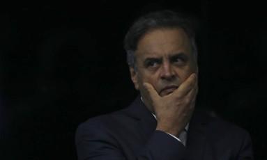 O senador Aécio Neves Foto: Ailton Freitas / Agência O Globo / 4-7-17