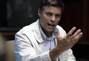 Líder oposicionista Leopoldo López Foto: Ariana Cubillos / AP