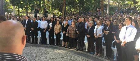 Crivella participa de evento de comemoração dos 40 anos da Igreja Universal Foto: Reprodução do Facebook