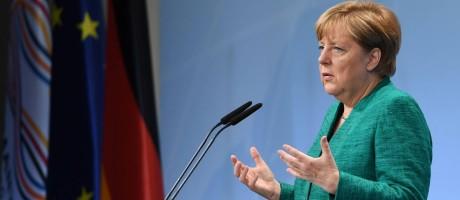 Angela Merkel: Declaração deixa muito clara a diferença entre o que os Estados Unidos querem e o que os outros países querem Foto: AFP