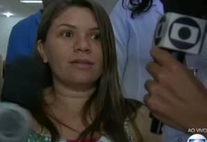 Claudineia, mãe do pequeno Arthur Foto: Reprodução da TV