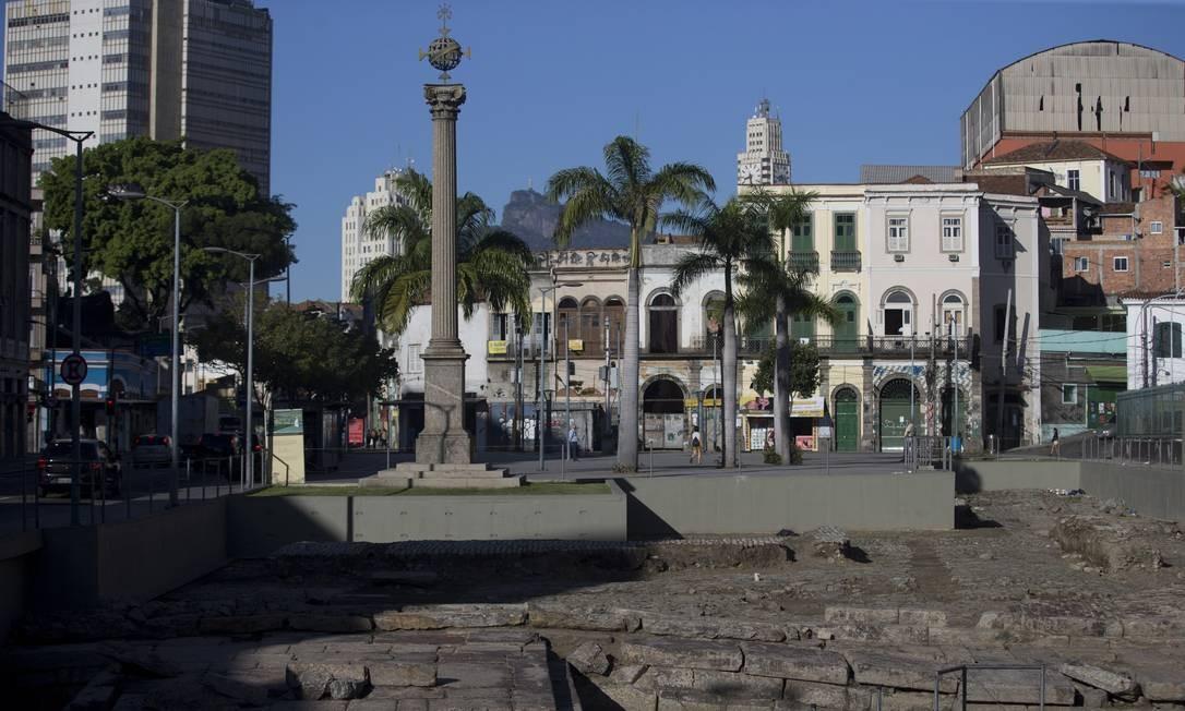 Cais do Valongo, na Zona Portuária, é eleito Patrimônio Mundial da Unesco Foto: Márcia Foletto / Agência O Globo