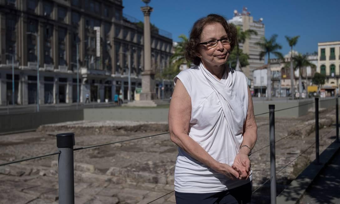 Arqueóloga Tania Andrade Lima, que ajudou a desenterrar a história do sítio arqueológico Cais do Valongo em 2012 Foto: Mauro Pimentel / AFP