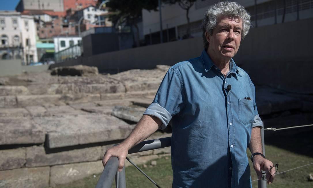 O antropólogo Milton Guran coordenou a elaboração do dossiê de postulação do Cais do Valongo ao título, uma parceria do Iphan com a prefeitura do Rio Foto: Mauro Pimentel / AFP